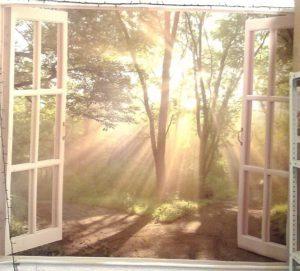 Натяжной потолок - окно
