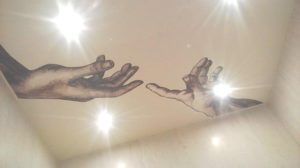 Натяжные потолки фото.