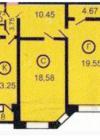 2-комнатная квартира Планировки квартир серии 121-3Т