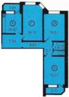 3-комнатная квартира Планировки квартир серии 121-3Т