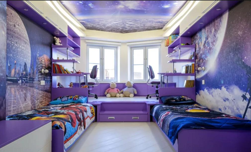 натяжной потолок в детскую.
