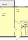 1-комнатная квартира Планировки квартир серии 121