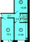 2-комнатная квартираПланировки квартир серии 121-7Т