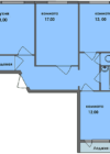 3-комнатная квартира Планировки квартир серии 121