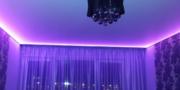 Лента светодиодная за потолком