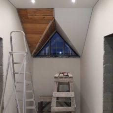 2 этап Натяжка потолков Установка светильников
