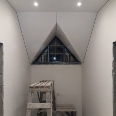 8 этап Окончание натяжки потолка